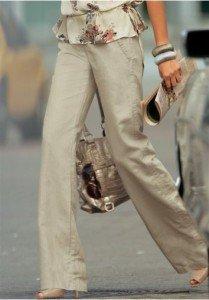 Льняные брюки и уход за ними